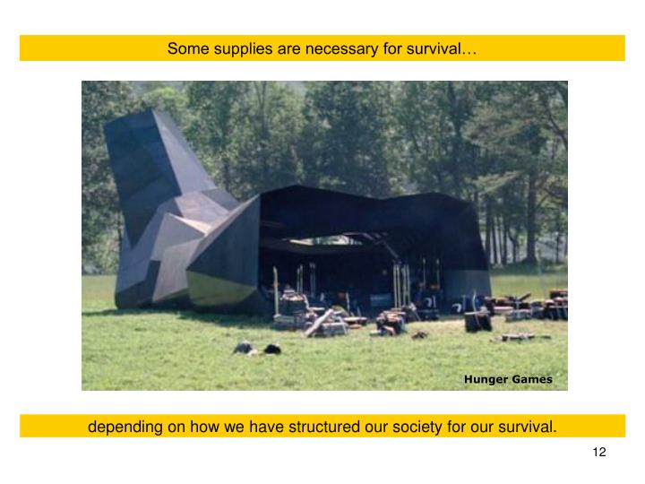 Some supplies are necessary for survival…