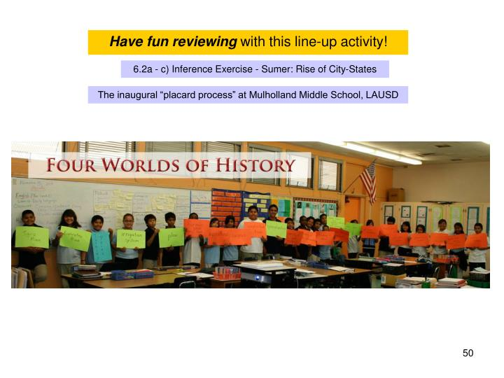 Have fun reviewing
