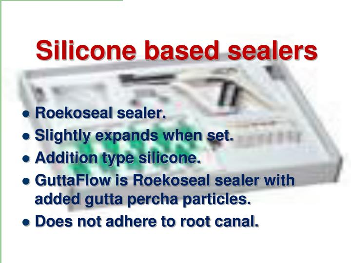 Silicone based sealers