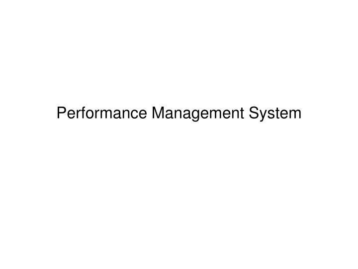 performance management system n.
