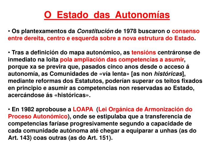 O  Estado  das  Autonomías