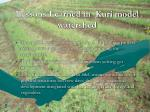 lessons learned in kuri model watershed