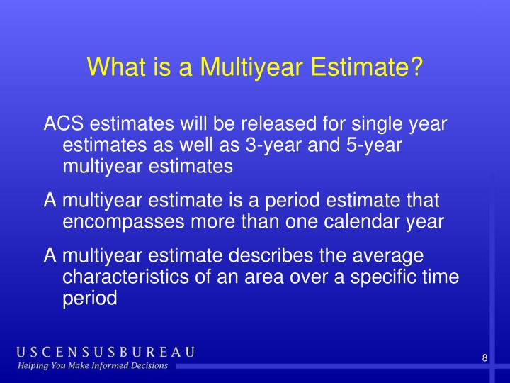 What is a Multiyear Estimate?