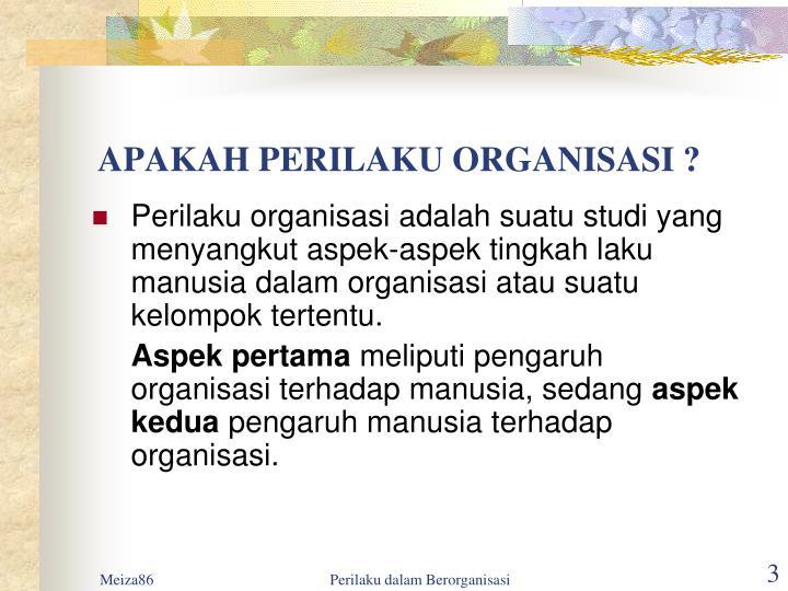 Apakah perilaku organisasi