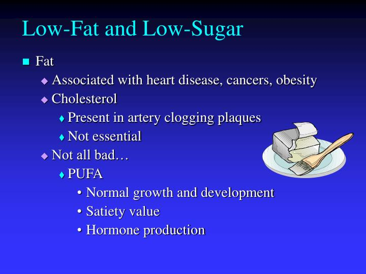 low fat and low sugar n.