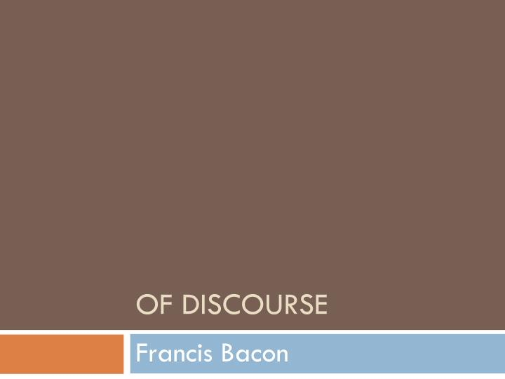 of discourse n.