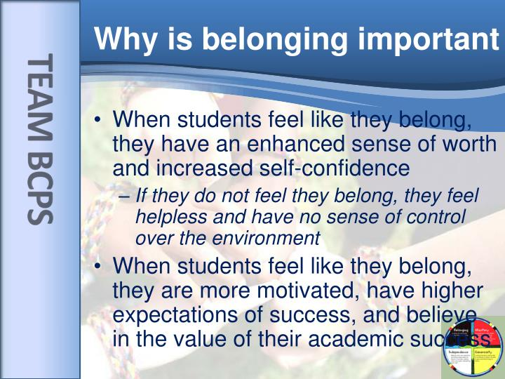 why is belonging important