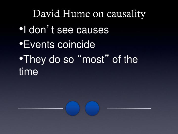 David Hume on causality