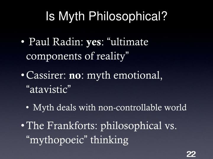 Is Myth Philosophical?