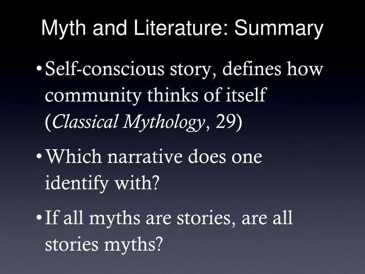 Myth and Literature: Summary