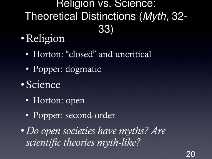 Religion vs. Science: