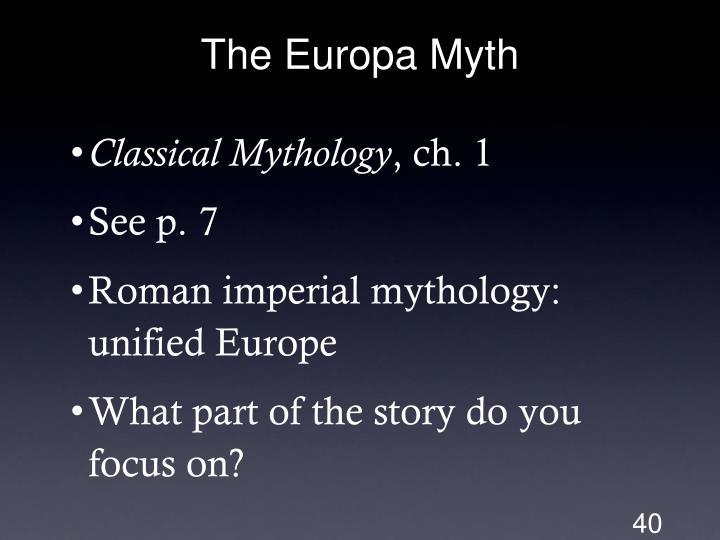 The Europa Myth