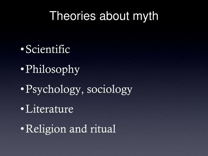 Theories about myth