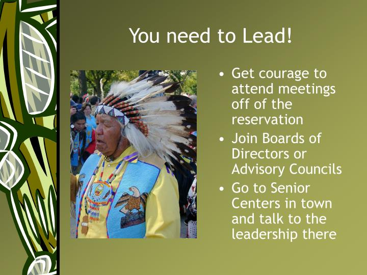 You need to Lead!