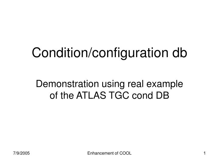 condition configuration db n.