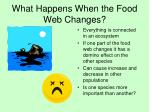 what happens when the food web changes1