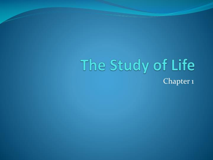 the study of life n.