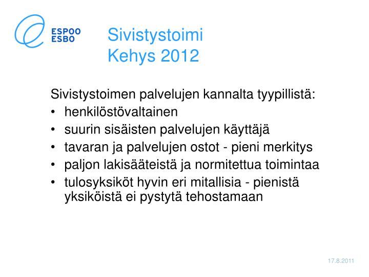 Sivistystoimi kehys 20121
