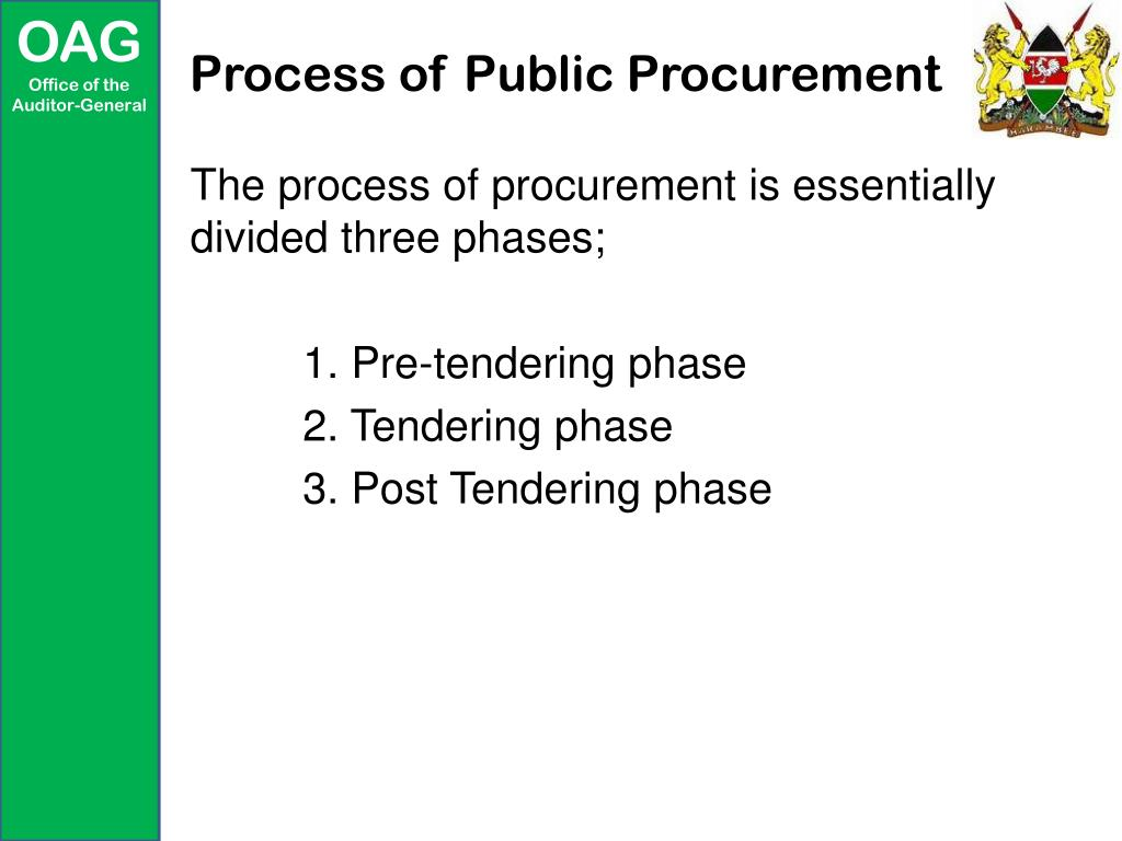 PPT - Using Audit to Oversee Public Procurement PowerPoint