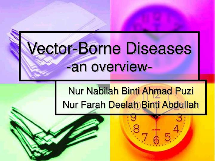 vector borne diseases an overview n.