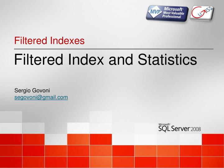 filtered index and statistics n.