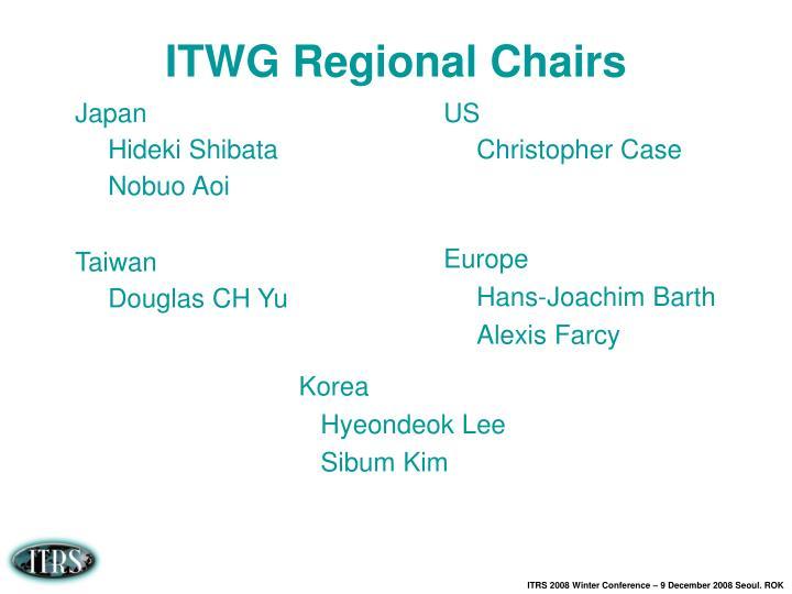 Itwg regional chairs