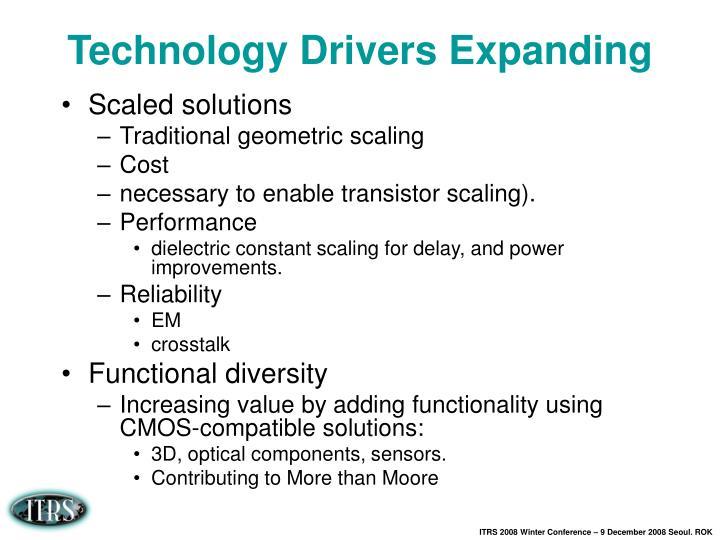 Technology Drivers Expanding