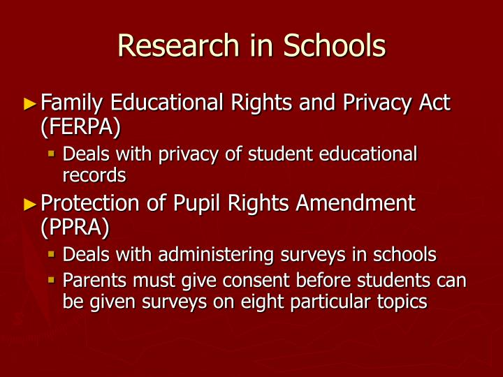 Research in Schools