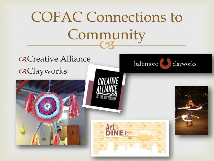 COFAC Connections to Community