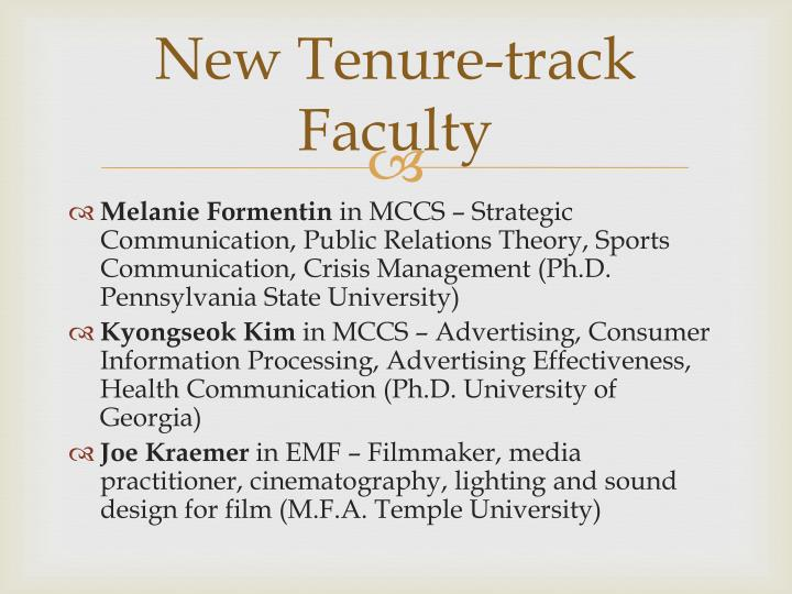 New Tenure-track Faculty