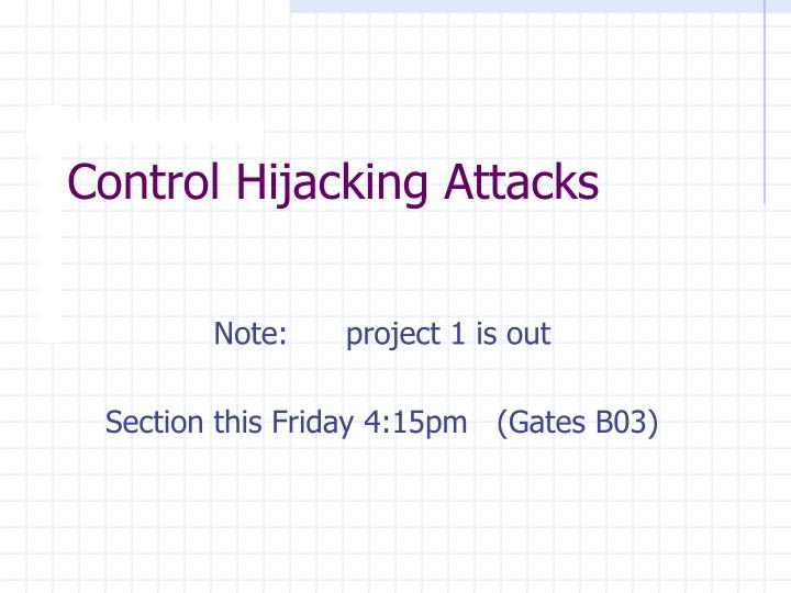 control hijacking attacks n.