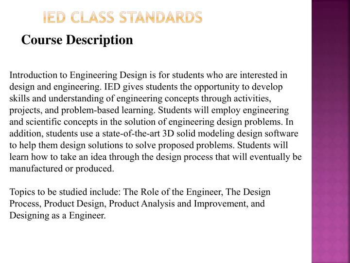 ied class standards n.