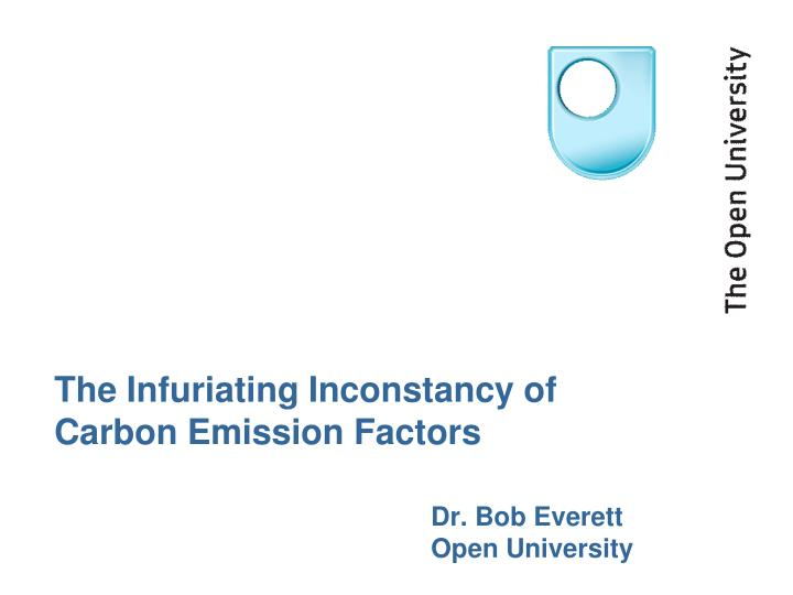 the infuriating inconstancy of carbon emission factors n.