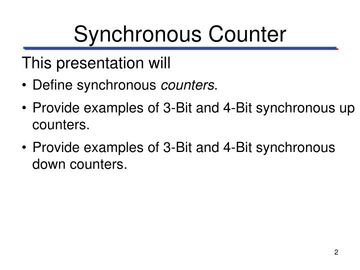 Synchronous counter1
