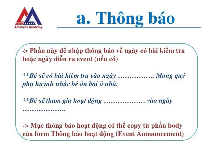 A th ng b o