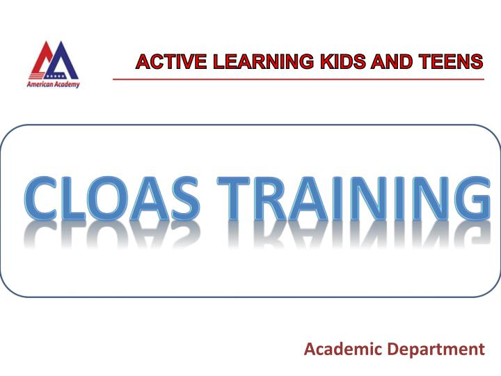 Active learning kids and teens