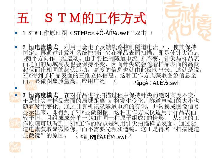 五 STM的工作方式