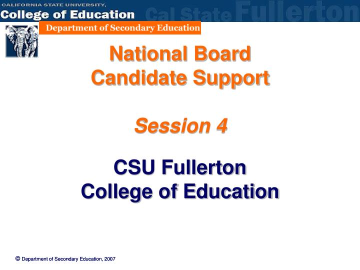 national board candidate support session 4 n.