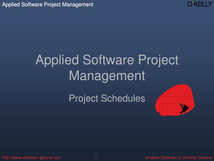 applied software project management n.