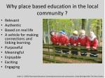 why place based education in the local community