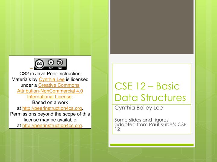 cse 12 basic data structures n.