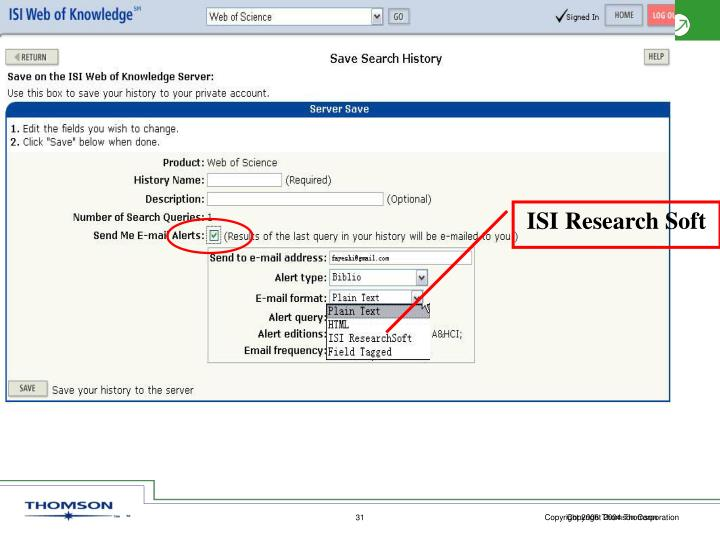 ISI Research Soft