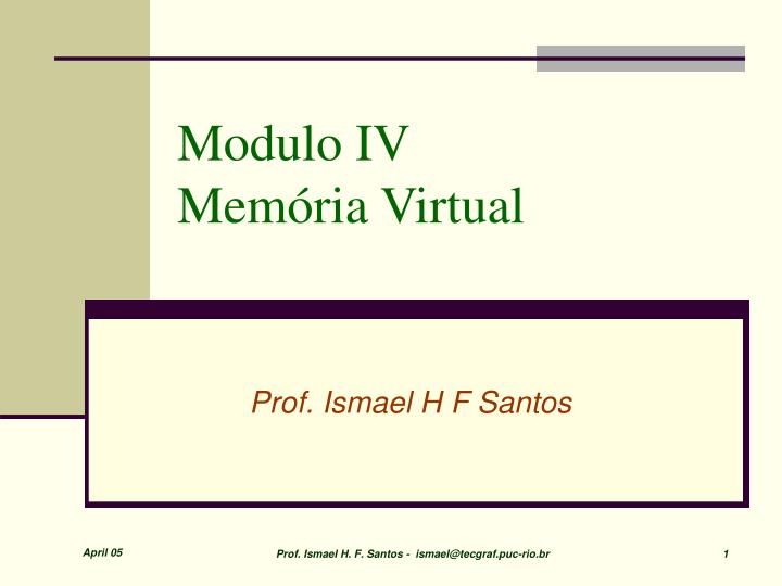 modulo iv mem ria virtual n.