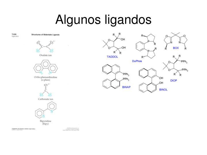 Algunos ligandos