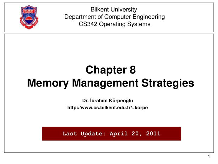 chapter 8 memory management strategies n.