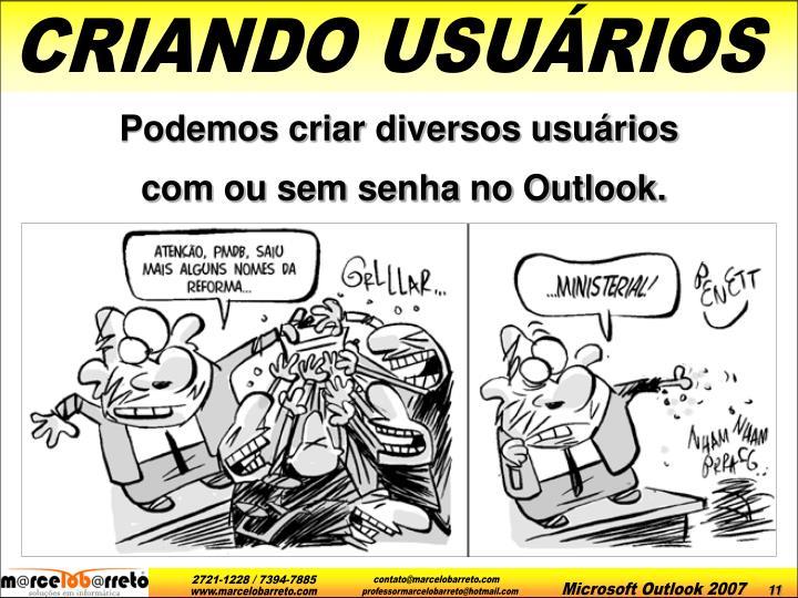 CRIANDO USUÁRIOS