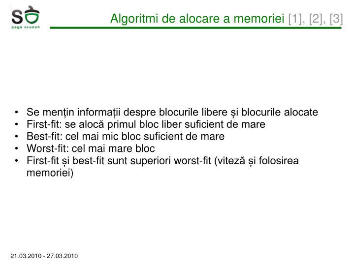 Algoritmi de alocare a memoriei