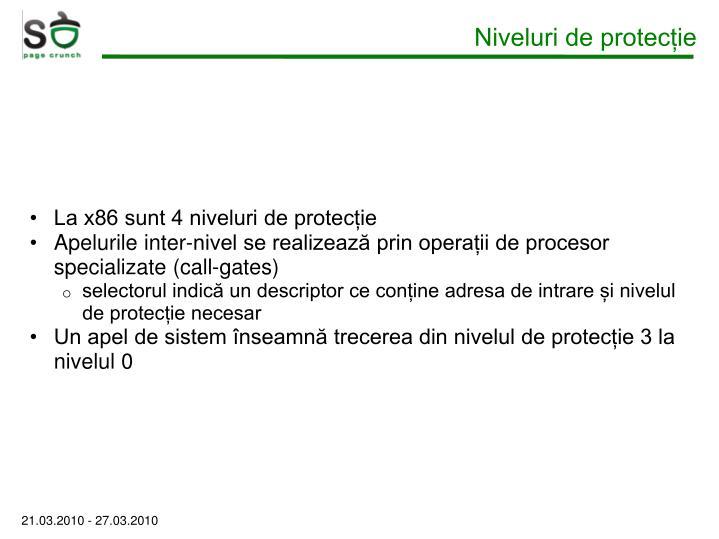 Niveluri de protecție