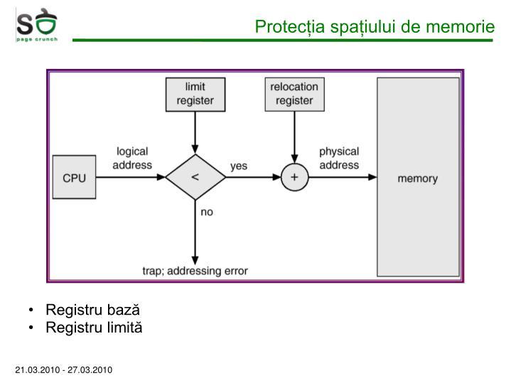 Protecția spațiului de memorie