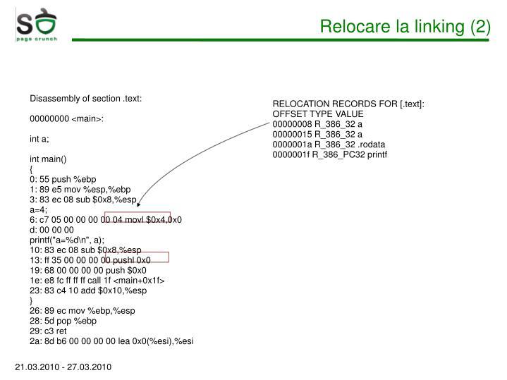 Relocare la linking (2)
